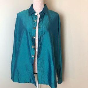 CP SHADES long sleeves silk shirt